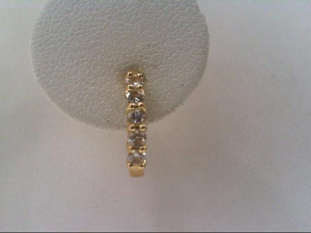 Gold-Diamond Earrings 10 Diamonds .30 Carat T.W. 14K Yellow Gold 1.4g