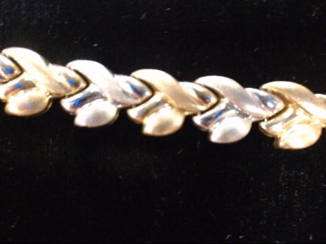 Gold Fashion Bracelet 10K 2 Tone Gold 10.7g