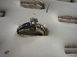 Lady's Diamond Engagement Ring 45 Diamonds 1.63 Carat T.W. 18K White Gold 6.7g