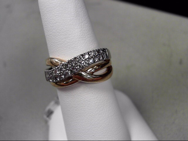 Lady's Diamond Fashion Ring 24 Diamonds .48 Carat T.W. 14K Yellow Gold 5.96g
