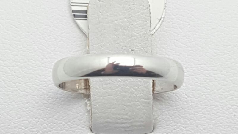 Lady's Gold Ring 14K White Gold 1.5g Size:4