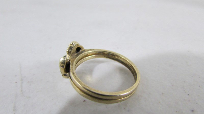 Lady's Diamond Solitaire Ring .05 CT. 10K Yellow Gold 3.85g Size:7.5