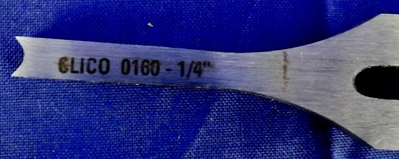 """CLICO 0160 1/4"""" HOLLOW SQUARE MORTICE CHISEL AND BIT"""