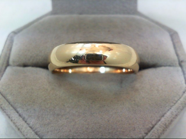 Gent's Gold Wedding Band 14K Yellow Gold 7.9g Size:13