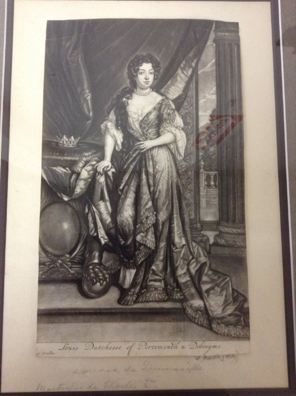 LOUIS DUTECHESSE OF PORTSMOUTH & DOBINGME Painting ART WOMEN