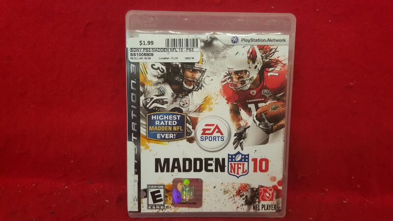 SONY Sony PlayStation 3 Game MADDEN NFL 10 - PS3