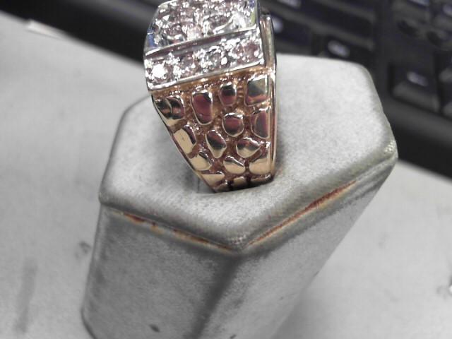 Gent's Diamond Cluster Ring 13 Diamonds 1.48 Carat T.W. 10K Yellow Gold 13.8g