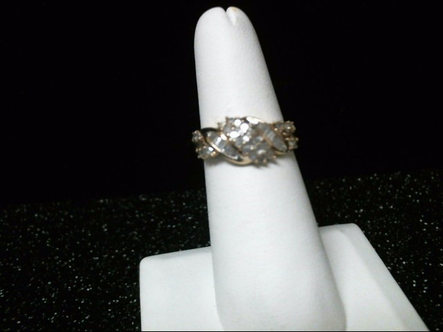 Lady's Diamond Cluster Ring 38 Diamonds .76 Carat T.W. 10K Yellow Gold 3.3g