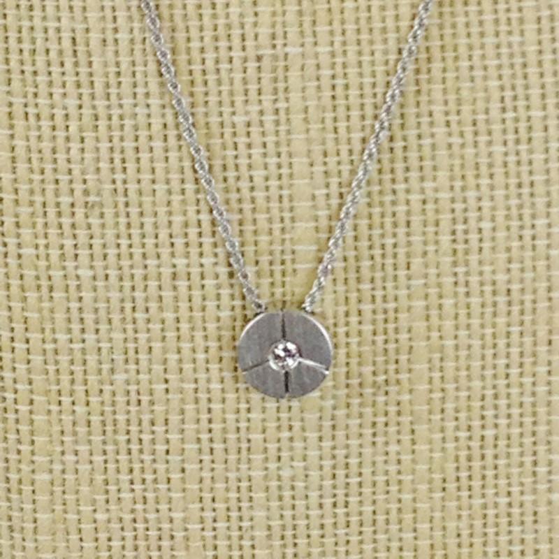 Diamond Necklace .10 CT. 18K White Gold 7.65g Sabini Italian Fine Jewelry