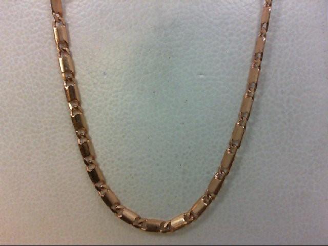 """18"""" Gold Fashion Chain 14K Rose Gold 3.8g"""