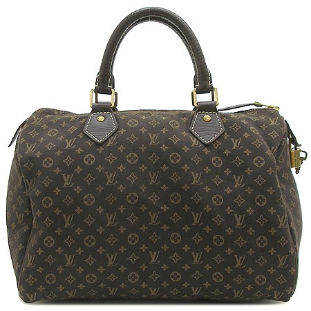 LOUIS VUITTON BROWN SPEEDY MINI LIN SPEEDY 30