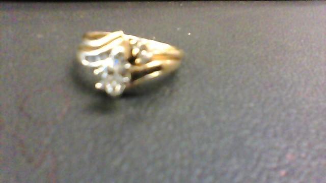 Lady's Diamond Wedding Set 5 Diamonds .60 Carat T.W. 14K Yellow Gold 4.1g