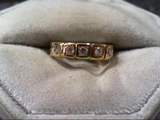 Lady's Diamond Wedding Band 5 Diamonds .25 Carat T.W. 14K Yellow Gold 3.4g