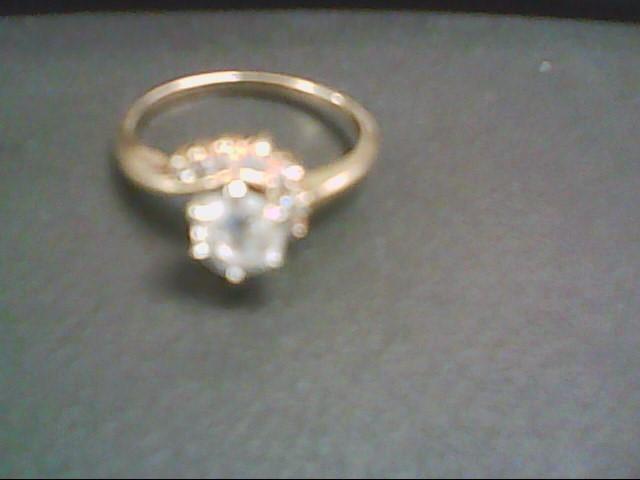 Lady's Diamond Cluster Ring 9 Diamonds .73 Carat T.W. 14K Yellow Gold 3.6g