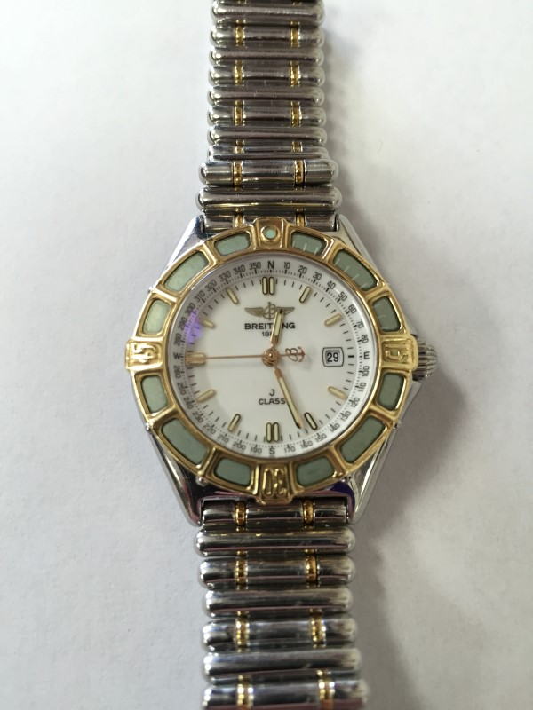 BREITLING J CLASS, LADIES WATCH, 18K GOLD, STAINLESS STEEL Model #D52063,