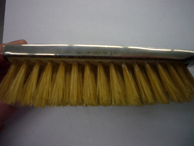 """Antique GORHAM Hair Care/Styling HAIR BRUSH INITIALS """"MHO"""""""