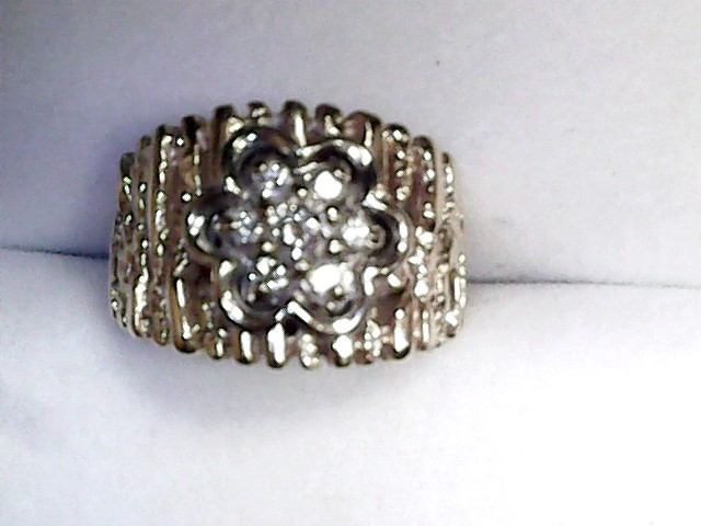 Gent's Diamond Cluster Ring 7 Diamonds .33 Carat T.W. 14K Yellow Gold 4.18dwt
