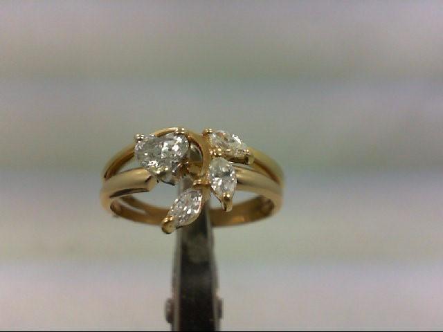 Lady's Diamond Wedding Set 4 Diamonds 1.07 Carat T.W. 14K Yellow Gold 3.3g
