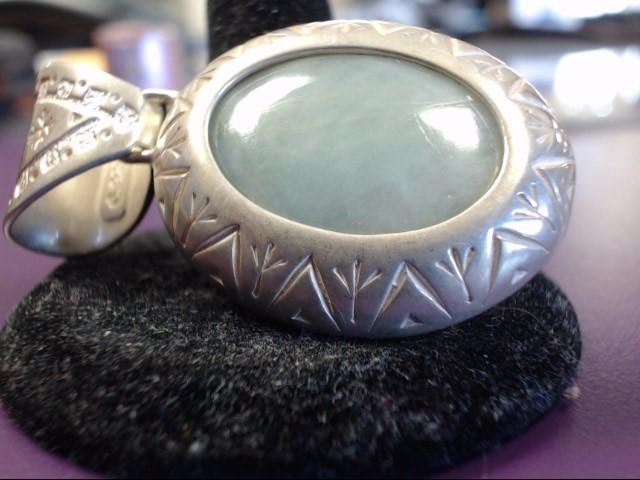 Jade Silver-Stone Pendant 925 Silver 18.6g