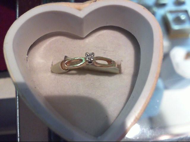Lady's Diamond Engagement Ring .01 CT. 14K Yellow Gold 1.5g