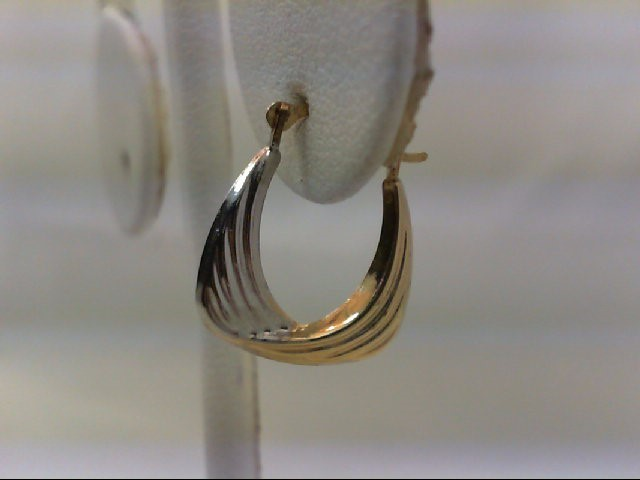 Gold Earrings 14K 2 Tone Gold 0.6g