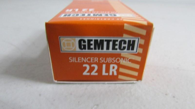 GEMTECH 22 LR SILENCER SUBSONIC 50RND