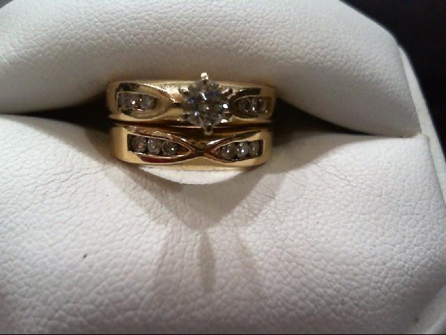 Lady's Diamond Wedding Set 13 Diamonds .49 Carat T.W. 14K Yellow Gold 6g