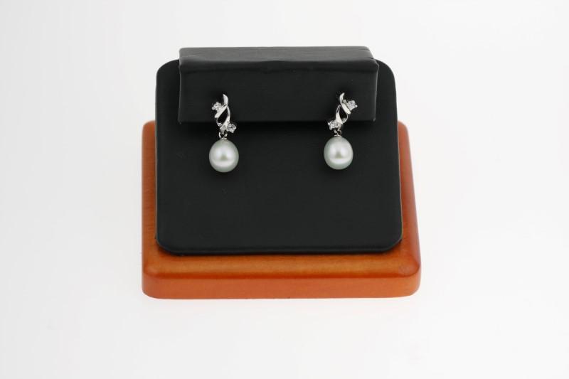 Silver Earrings w/ Freash Water Pearl 925 Silver 3.21g