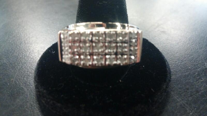 Gent's Diamond Fashion Ring 23 Diamonds .23 Carat T.W. 10K Yellow Gold 5.1dwt