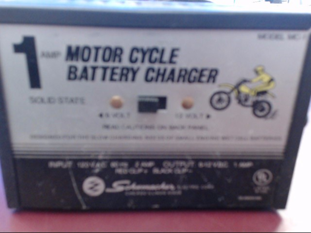 SCHUMACHER MOTORCYCLE BATTERY CHARGER MC-1
