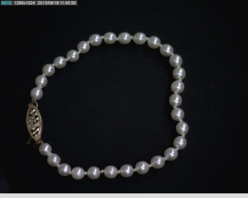 Pearl Gold-Stone Bracelet 14K Yellow Gold 2.1dwt