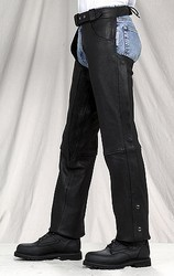 DEALER LEATHER C332-01-D-8XL; PLAIN CHAP WITH GATHER IN THIGH