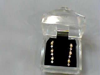 Gold-Diamond Earrings 6 Diamonds .12 Carat T.W. 14K Yellow Gold 1.3dwt
