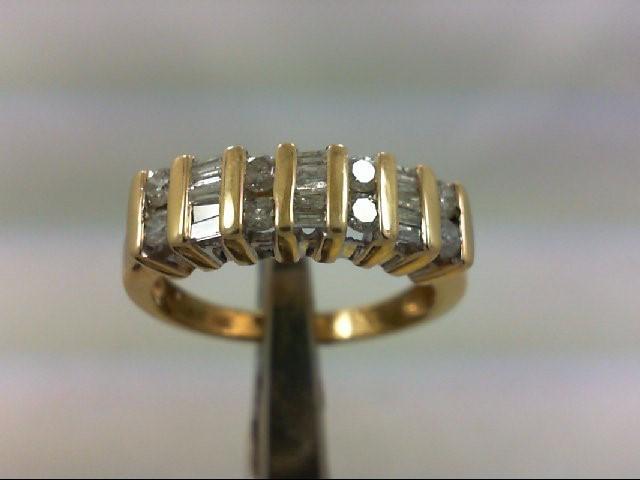 Lady's Diamond Wedding Band 23 Diamonds .84 Carat T.W. 14K Yellow Gold 4.56g