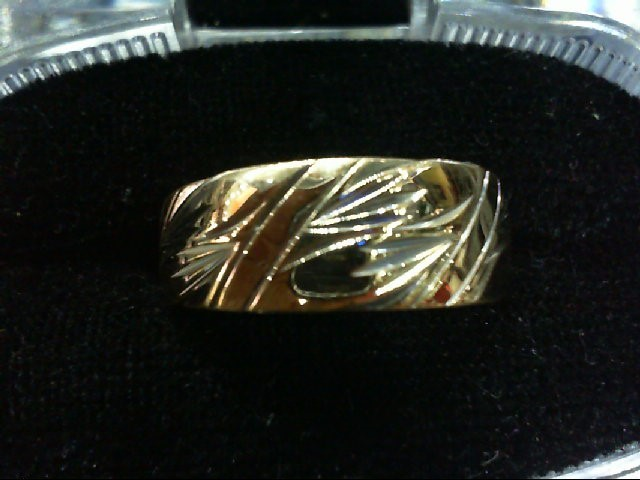 Gent's Gold Wedding Band 14K Yellow Gold 4.1g Size:10