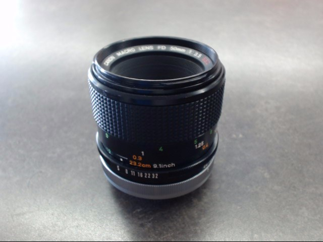 CANON Lens MACRO LENS FD 50MM 1:3.5