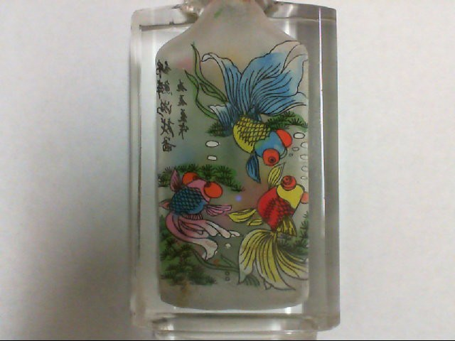 HAND PAINTED SNUFF BOTTLE