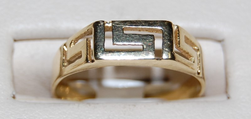 10K Yellow Gold Lady's Ring 1.7G Size 7