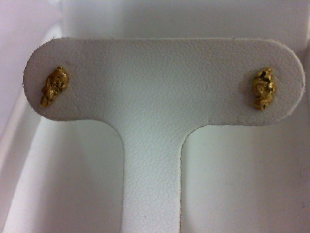 Gold Earrings 24K Yellow Gold 0.8g