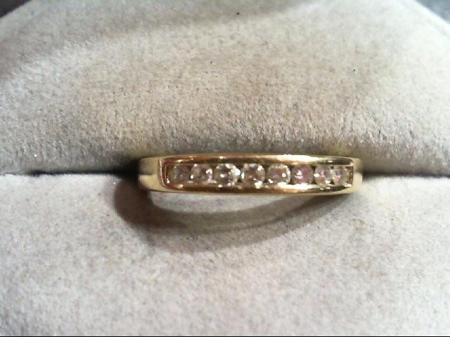 Lady's Diamond Wedding Band 8 Diamonds .24 Carat T.W. 14K Yellow Gold 1.8g