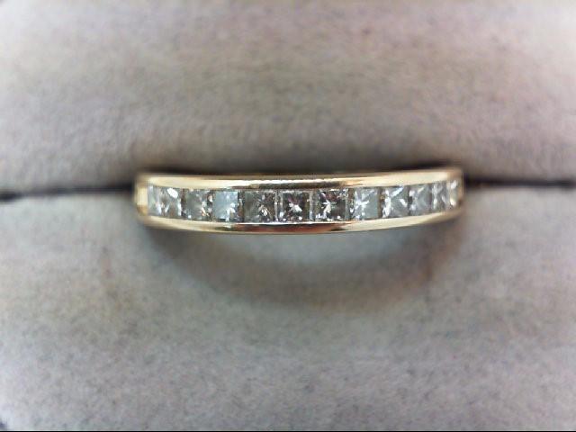 Lady's Diamond Wedding Band 12 Diamonds .50 Carat T.W. 14K Yellow Gold 3.8g