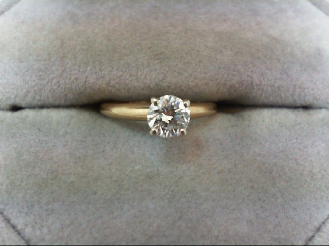 Lady's Diamond Solitaire Ring 0.4 CT. 14K Yellow Gold 1.5g