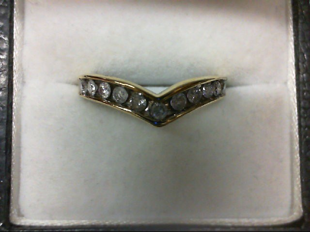 Lady's Diamond Wedding Band 11 Diamonds 0.55 Carat T.W. 14K Yellow Gold 2.5g