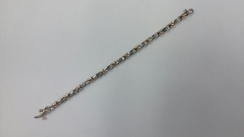 Gold Bracelet 10K 2 Tone Gold