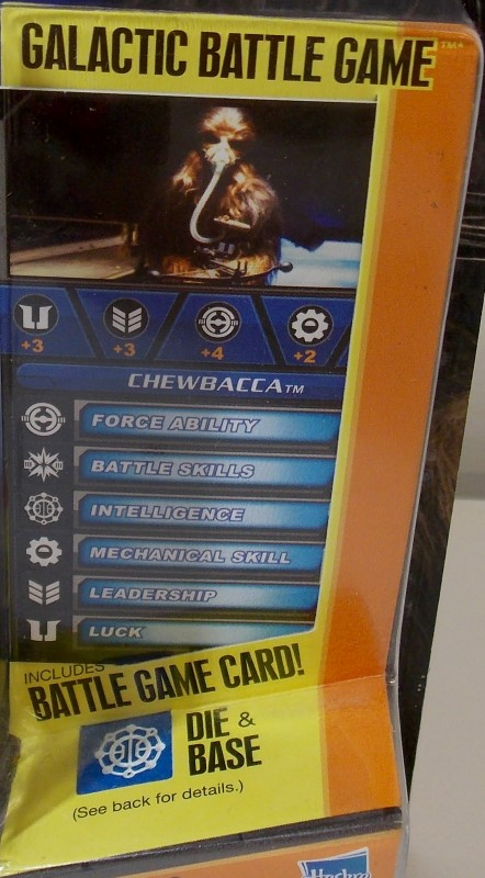 STAR WARS SAGA LEGENDS, CHEWBACCA, SL18, WITH GALACTIC BATTLE GAME, NEW