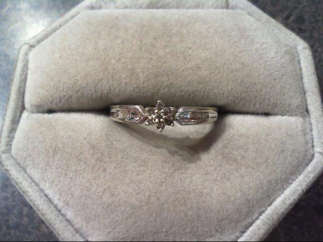 Lady's Diamond Fashion Ring 17 Diamonds .17 Carat T.W. 10K White Gold 1.7g