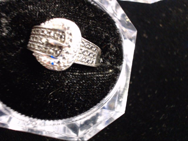 Black Stone Lady's Silver & Stone Ring 925 Silver 4.7g Size:6