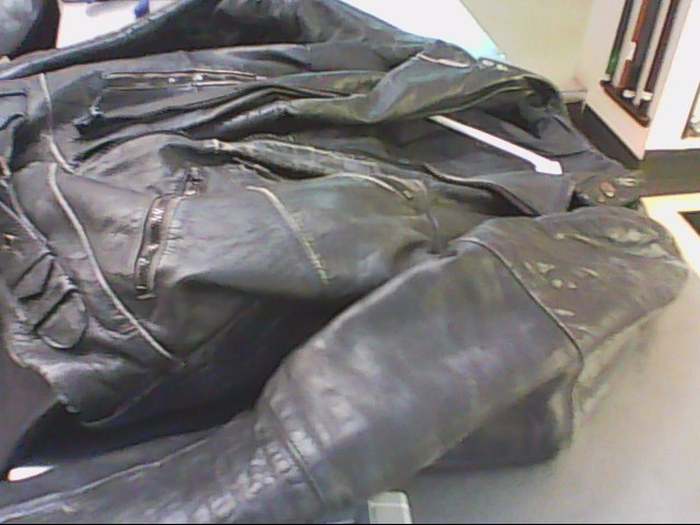 MOTORCYCLE JACKET AND CHAPS