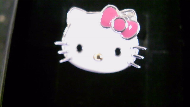 NEW SS EN. HELLO KITTY RING   SIZE 6