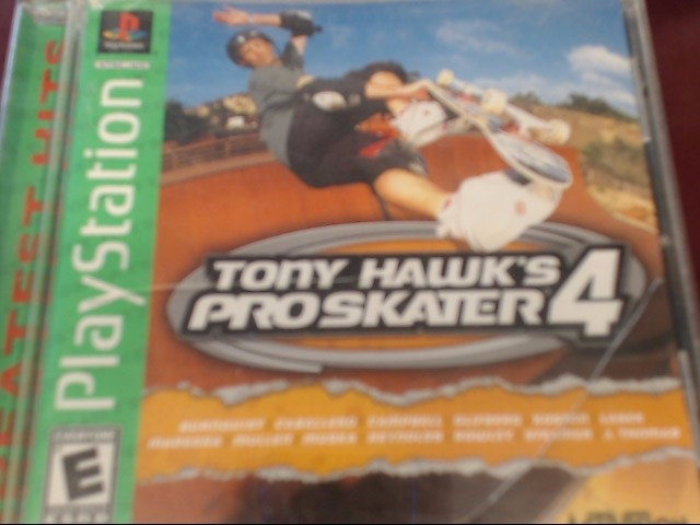 SONY PS1 TONY HAWK'S PROSKATER 4